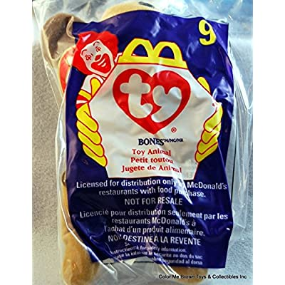 Ty Beanie Babies - 1998 Beanie Babies McDonald's BONES the Dog #9 - TY BEANIE Babies by Unknown: Toys & Games