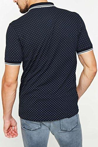 Fred Perry Camisa de Lunares piqué para Hombre - Negro -: Amazon ...