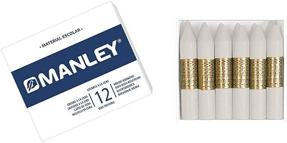 Ceras Manley EST D 12 Blanco 1: Amazon.es: Oficina y papelería