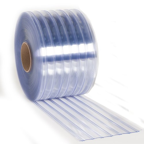 Aleco 171150 Clear-Flex II PVC Standard Scratch-Guard Ribbed Strip Door Bulk Roll, 75' Length x 12'' Width x 0.216'' Thick by Aleco