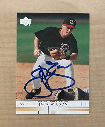 JACK WILSON PITTSBURGH PIRATES SIGNED AUTOGRAPHED 2002 UPPER DECK CARD#427 W/COA
