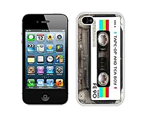 Apple iPhone 6 plus 5.5 Case Durable Soft Silicone TPU Element Audio Cassette White Cell Phone Case Cover Protector for iPhone 6 plus 5.5