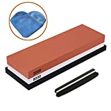 4000 8000 grit sharpening stone - IWIVI Whetstone, Double-Side Knife Sharpening Stone Set Grit 3000//8000 Knife Sharpener Combination Waterstone Kits with Non-slip Silicone Base, Angle Guide and Cleaning Towel (3000#/8000#)