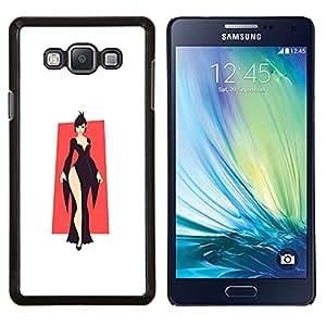 Elegante Negro- Metal de aluminio y de plástico duro Caja del teléfono - Negro - Samsung Galaxy A7 / SM-A700