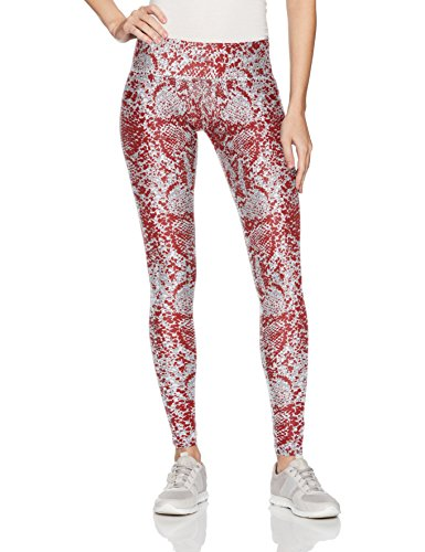 Zubaz Unisex Casual Printed Athletic Lounge Leggings, New Maroon/Gray, S