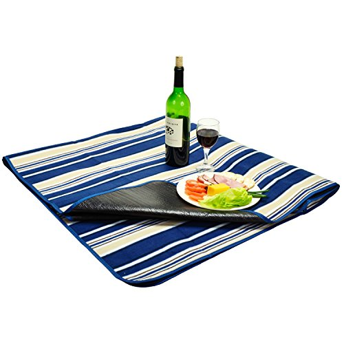 Picnic at Ascot Outdoor Picnic Blanket With Water Resistant Backing, Extra Large 60