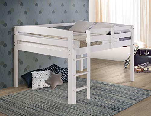 Concord T1303F Junior Loft Bed, Full, White