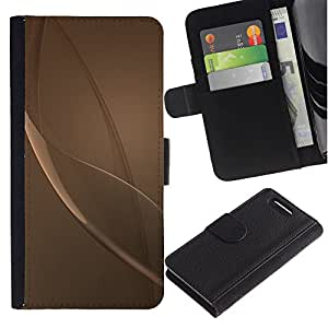 For Sony Xperia Z1 Compact / Z1 Mini / D5503,S-type® Grey Beige Bronze Reflective Abstract - Dibujo PU billetera de cuero Funda Case Caso de la piel de la bolsa protectora