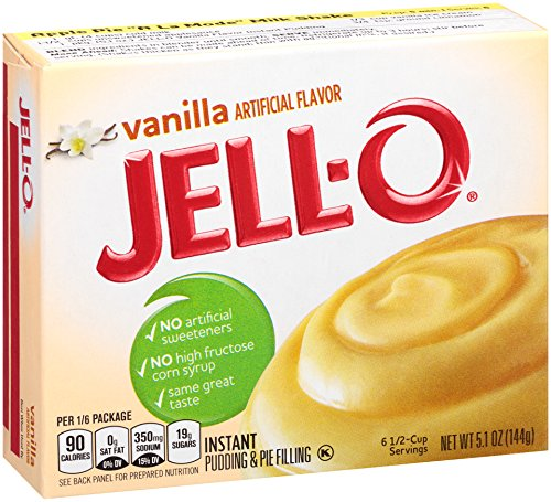 JELL-O Vanilla Instant Pudding & Pie Filling Mix (5.1 oz Box)