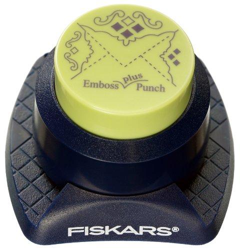 Fiskars 12-23857697 Combo Corner Punch, Royal