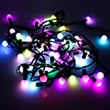 LeMorcy RGB Ball Light, 17ft 50LED Changing Color Novelty Fairy Globe String Lights for Party Decor, Trees, Garden, Patio, Home, Wedding, Bedroom Decorations