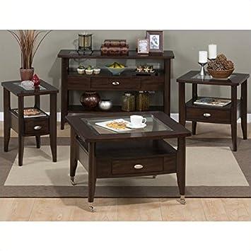 Amazoncom Jofran Montego Merlot 4 Piece Coffee Table Set Kitchen