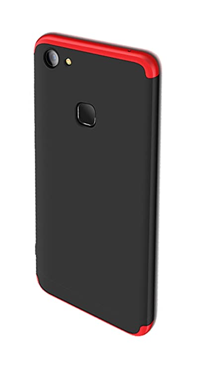 designer fashion d3e91 d9bac Annure Back Cover Case for Vivo V7 Plus (360 Protection Red & Black)