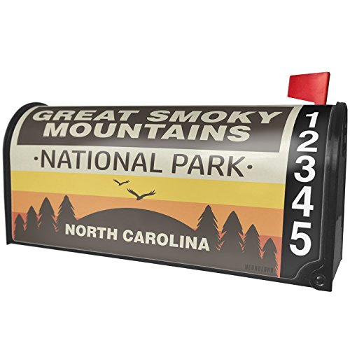 NEONBLOND National Park Great Smoky Mountains Magnetic Mailbox Cover Custom Numbers by NEONBLOND