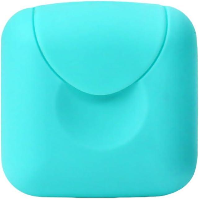 Port/átil Caja de Contenedor de Jab/ón Ideal para Hogar//Viaje//Viajes de Negocios//al Aire Libre Tipo A 2pcs Caja Sellada de Jab/ón Queta Jabonera con 2 Bolsas de Saco con Cord/ón Rosa+Verde