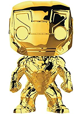 Marvel Studio's 10th Anniversary - Iron Man (Gold Chrome) Funko Pop! Vinyl Figure (Includes Compatible Pop Box Protector Case)