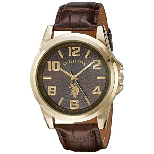 U.S. Polo Assn. Classic Men's USC50167 Gold-Tone Watch...