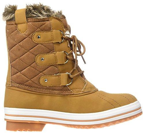 Polar Produkte Damen Schneestiefel gesteppte kurze Winter Schnee Regen warme wasserdichte Stiefel Tan Wildleder