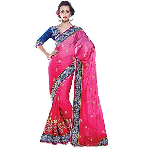 Paisely moda borde 2805 bordado Sari trabajo Aagaman admirable EpwAdqxvEf