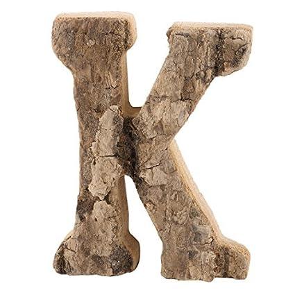 eDealMax madera Familia Calle K en forma de puerta Estilo retro Placa de la carta Etiqueta