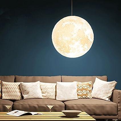 Amazon gahaya 14 moon pendant lamp 3d printing ceiling light amazon gahaya 14 moon pendant lamp 3d printing ceiling light 3200k 6500k e26 led home improvement aloadofball Images