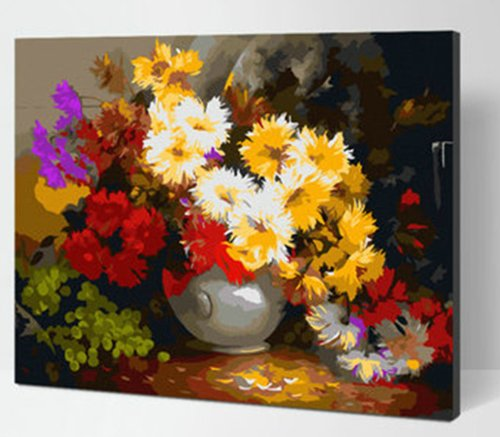 Diy oil painting, paint by number kit- Beautiful and moving 1620 inch. by Colour Talk