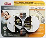 Kidde - LED Escape Light Smoke Alarms - Pack of 2 Alarms