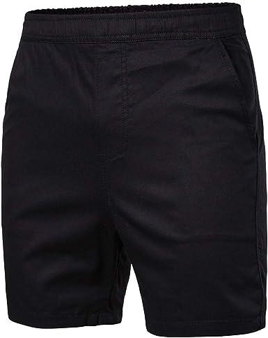 Sayla Pantalones Hombre Verano Moda Casual Cargo Bermuda Deporte Entrenamiento Fitness Pantalón Corto con Cordón Respirable Holgado Shorts Running ...