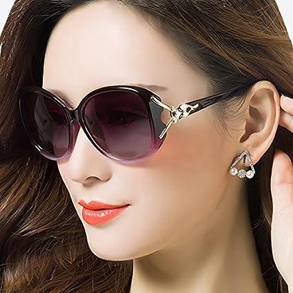 Komny mujer gafas de sol polarizadas gafas de sol mujer marea cara redonda estrellas gafas de