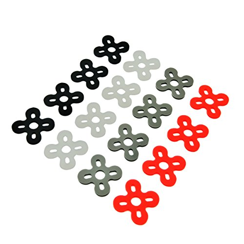 EUDAX 16 PCS Motor Spacer Shock Absorber Pads Damper Vibration Damping Washer Silicone Material for FPV Racing 22xx Series Brushless Motor Emax RS2205 iPower Motor iF2205 2204 2206 2208