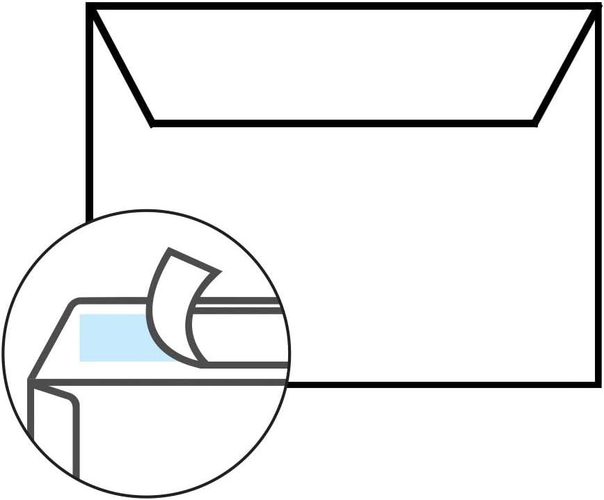 12 x 17 cm f/ür 120x170 mm Tarjetas; Color: Transparencia con tiras adhesivas 12,5x17,5 cm 25 Sobres im Format B6