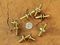 JWL (6) Solid Brass Cane Connectors Couplers 3/8\