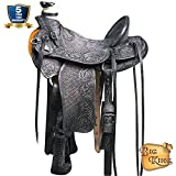 HILASON Western Horse Wade Saddle Leather Ranch Roping Antique Black
