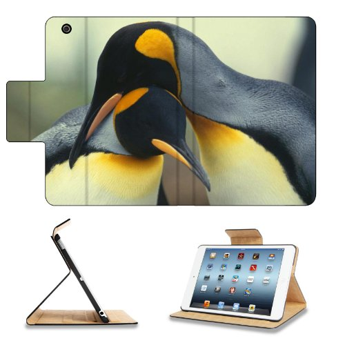 Penguin Couple Snuggling Nature Animal Apple Ipad Mini Retina Display Flip Case Stand Smart Magnetic Cover Open Ports Customized Made to Order Support Ready Premium Deluxe Pu Leather 8 Inch (205mm) X 5 1/2 Inch (140mm) X 11/16 Inch (17mm) MSD Ipad Mini Retina 2 Professional Ipadmini Cases Ipad_mini Accessories Graphic Background Covers Designed Model Folio Sleeve HD Template Designed Wallpaper Photo Jacket Wifi 16gb 32gb 64gb Luxury Protector