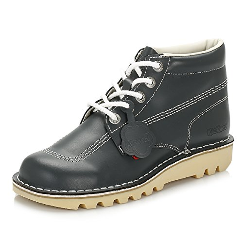Kickers Mens Kick Hi Core Navy/Natural Leather Boots-UK 11 (Womens Kickers)