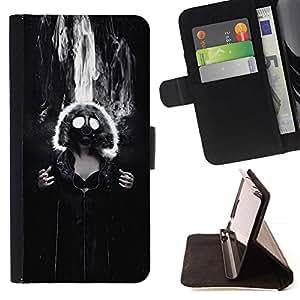 Momo Phone Case / Flip Funda de Cuero Case Cover - Máscara de gas Muchacha gótica atractiva;;;;;;;; - Sony Xperia M4 Aqua