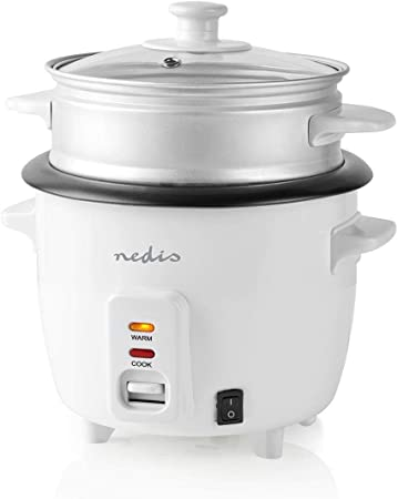 Opinión sobre TronicXL - Arrocera eléctrica (400 W, 1 litro, con accesorio de cocción al vapor, cocina asiática, japonesa, china, compacta, antiadherente)