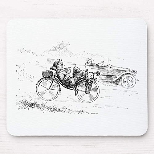 BGLKCS Recumbent Bicycle ~ Vintage Bicycling Cycling Mouse Pad 9.8×8.3 inches Mousepad