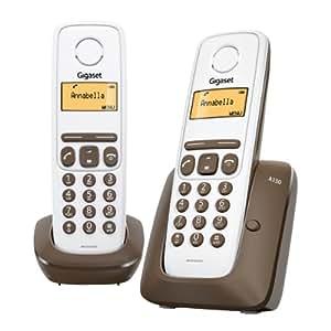 Gigaset A130 Duo - Teléfono fijo inalámbrico con pantalla
