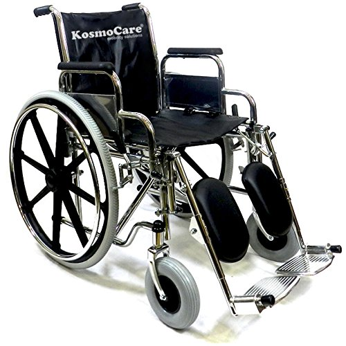 KosmoCare Metal Calf Support and Elevating Footrest Comfy Wheelchair