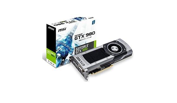 MSI 4GD5 NVIDIA GeForce GTX 980 4GB - Tarjeta gráfica (NVIDIA ...