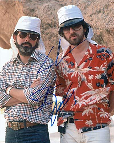 George Lucas & Steven Spielberg signed 8x10 photo