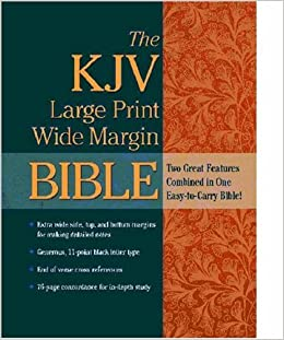 Book KJV Bible: Wide Margin