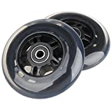 Kutick 2pcs 100mm Scooter Wheels Replacement Pair with ABEC-9 Bearing for Scooter Ripstik and EzyRoller