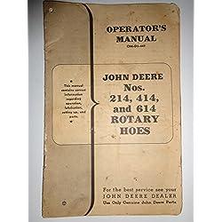John Deere 214 414 614 Rotary Hoe Parts, Operators