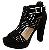 Top Moda Womens High Heel Sandals, Black 8 B(M) US