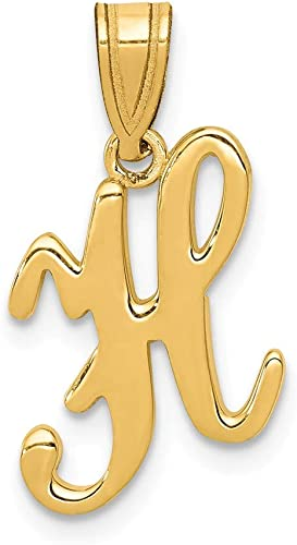 Mia Diamonds 14k Yellow Gold Large Script InitialO Charm
