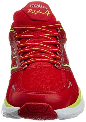 Skechers Go Run Ride 4 - Zapatillas de running Hombre Arancione (red/lime)