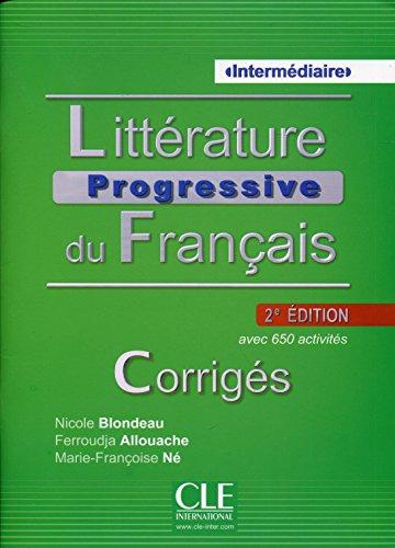 Litterature Progressive du Francais 2eme Edition: Corriges Intermediaire (French Edition)