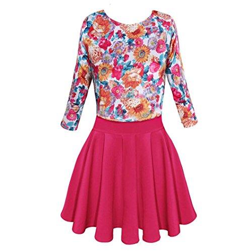 gaddrt Damen Kleid Blume Halbarm Abend Party Sexy Minikleid Mode ...